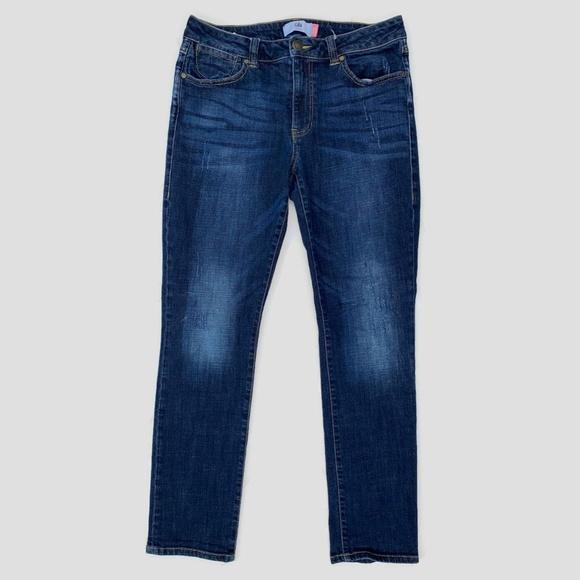 CAbi Denim - CAbi High Rise Straight Leg Jeans Distressed 8